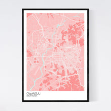 Load image into Gallery viewer, Map of Gwangju, South Korea