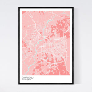 Map of Gwangju, South Korea