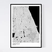 Load image into Gallery viewer, Hørsholm City Map Print