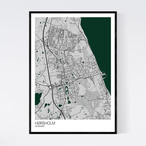 Hørsholm City Map Print