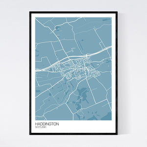Haddington Town Map Print
