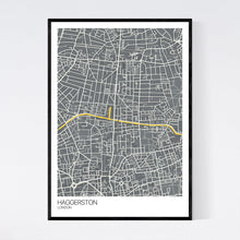Load image into Gallery viewer, Map of Haggerston, London
