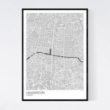 Load image into Gallery viewer, Haggerston Neighbourhood Map Print