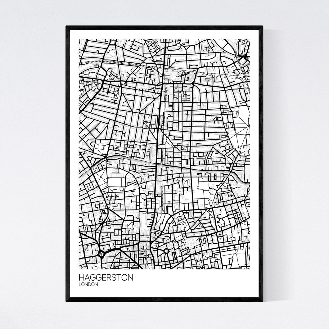 Haggerston Neighbourhood Map Print