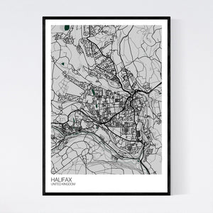 Map of Halifax, United Kingdom
