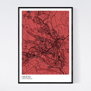 Halifax City Map Print