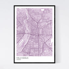 Load image into Gallery viewer, Halle (Saale) City Map Print