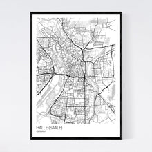 Load image into Gallery viewer, Map of Halle (Saale), Germany