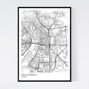 Map of Halle (Saale), Germany
