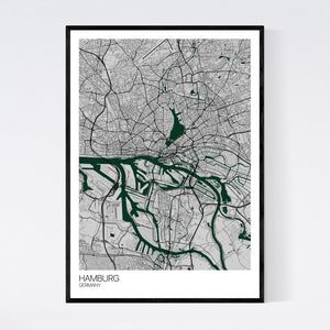 Hamburg City Map Print