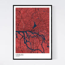 Load image into Gallery viewer, Hamburg City Map Print