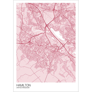 Map of Hamilton, United Kingdom
