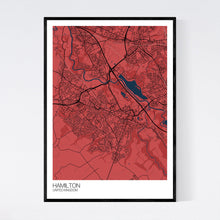 Load image into Gallery viewer, Hamilton City Map Print