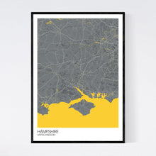 Load image into Gallery viewer, Hampshire Region Map Print