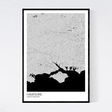 Load image into Gallery viewer, Map of Hampshire, United Kingdom