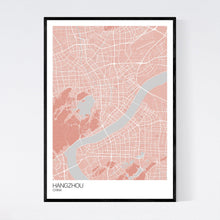 Load image into Gallery viewer, Hangzhou City Map Print