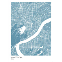 Load image into Gallery viewer, Map of Hangzhou, China