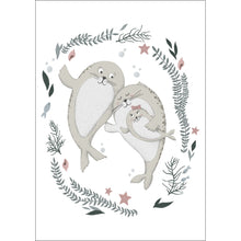 Load image into Gallery viewer, Happy Family of Seals Print