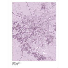Load image into Gallery viewer, Map of Harare, Zimbabwe