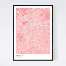 Load image into Gallery viewer, Hasselt City Map Print