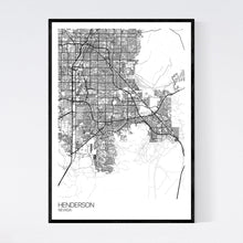 Load image into Gallery viewer, Henderson City Map Print