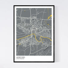 Load image into Gallery viewer, Hereford City Map Print