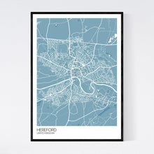 Load image into Gallery viewer, Map of Hereford, United Kingdom