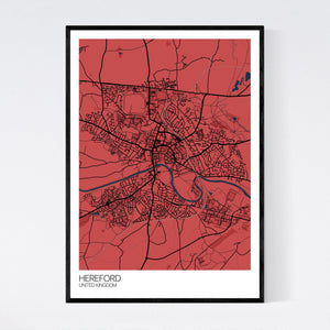 Hereford City Map Print