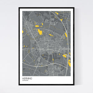 Herning City Map Print