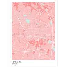 Load image into Gallery viewer, Map of Herning, Denmark