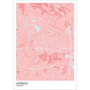 Map of Herning, Denmark