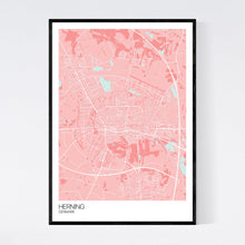 Load image into Gallery viewer, Herning City Map Print