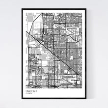 Load image into Gallery viewer, Hialeah City Map Print