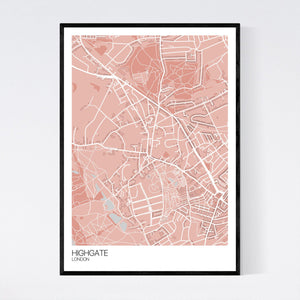 Highgate Neighbourhood Map Print