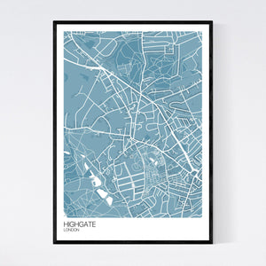 Map of Highgate, London