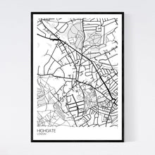 Load image into Gallery viewer, Highgate Neighbourhood Map Print
