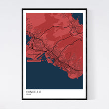 Load image into Gallery viewer, Honolulu City Map Print