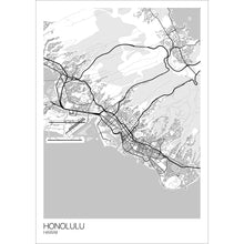 Load image into Gallery viewer, Map of Honolulu, Hawaii