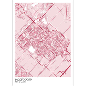 Map of Hoofddorp, Netherlands