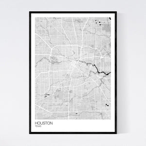 Houston City Map Print