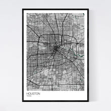 Load image into Gallery viewer, Houston City Map Print