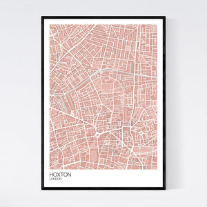 Map of Hoxton, London