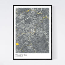 Load image into Gallery viewer, Huddersfield City Map Print