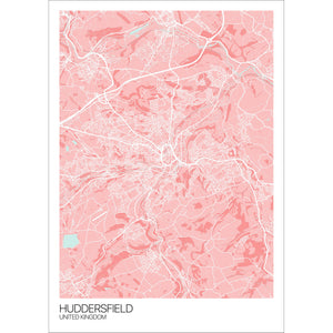Map of Huddersfield, United Kingdom