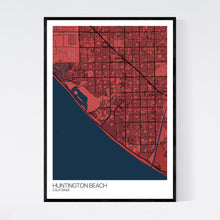 Load image into Gallery viewer, Huntington Beach City Map Print