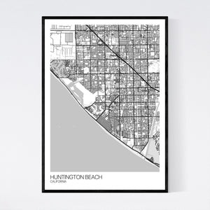 Huntington Beach City Map Print