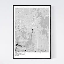 Load image into Gallery viewer, Huntsville City Map Print