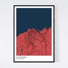 Load image into Gallery viewer, Ilfracombe Town Map Print