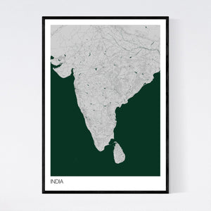 India Country Map Print