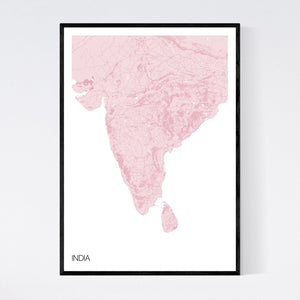 Map of India,